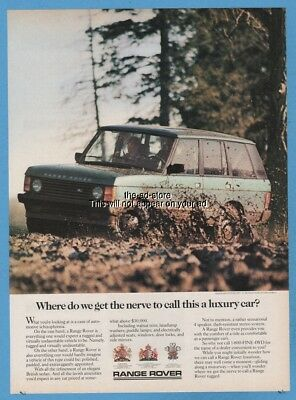 1987 Range Rover Where do we get the nerve to call this a luxury car? photo ad