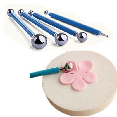 Sculpting Modeling Clay Tools Ball Stylus Dotting Set For Cakes Fondants Pottery