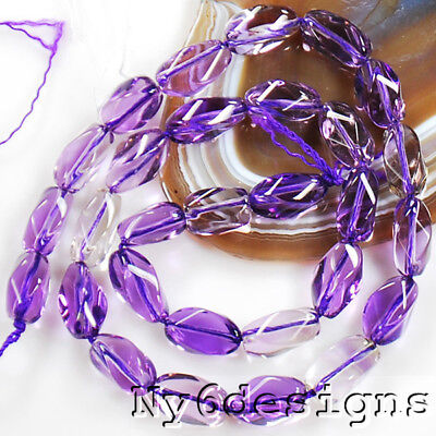 """14x6mm Natural Ametrine Oval Spacer Loose beads 15""""(OT24)"""
