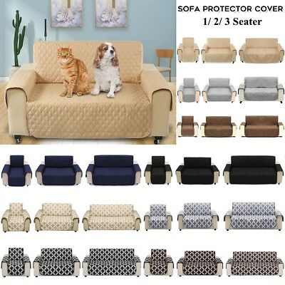 1/2/3 Seat Waterproof Pet Sofa Couch Cover Furniture Protector Mat Multi-Color