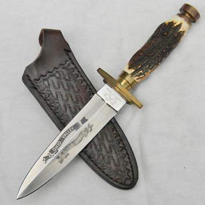 SWANNER CUTLERY Co, Japan 1980th OHIO VALLEY RIVER DIRK boot knife, orig sheath