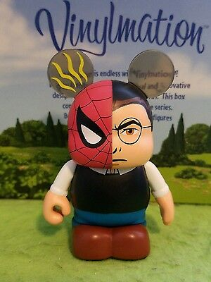 "DISNEY VINYLMATION Park - 3"" Set 1 Spiderman Peter Parker Eachez Non Variant"