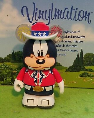 "DISNEY Vinylmation 3"" Park Set 1 Independence Day Eachez Goofy Non Variant"