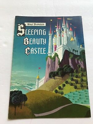 1957 Color Fold Out Booklet for Walt Disney's Sleeping Beauty Castle Disneyland