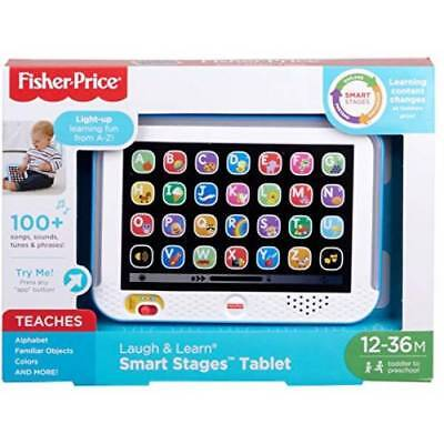 Fisher-Price Laugh & Learn Smart Stages Tablet, Blue/ Toddler Light Up Learning