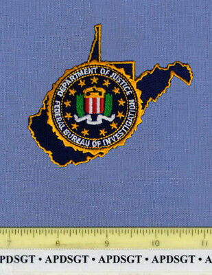FBI WEST VIRGINIA Sheriff Federal Police Patch STATE SHAPE