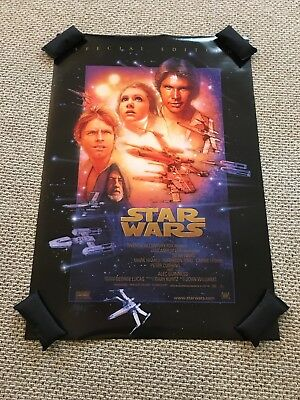 Star Wars Special Edition ANH Poster 40X27 RARE 1997 Double Sided