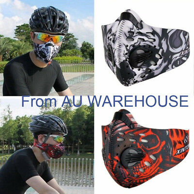 Anti Dust Riding Motorcycle Bicycle Cycling Outdoor Sports Half Face Mask Filter