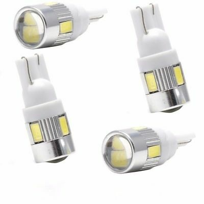 4pcs White T10 W5W 5630 168 194 192 158 6-SMD LED Car Wedge Side Light Bulb Lamp