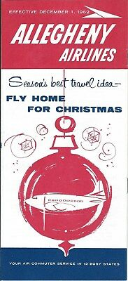 Airline Timetable - Allegheny - 01/12/62