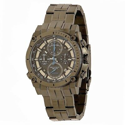Bulova Men's Precisionist Collection 98B229 Gunmetal Chronograph Analog Watch