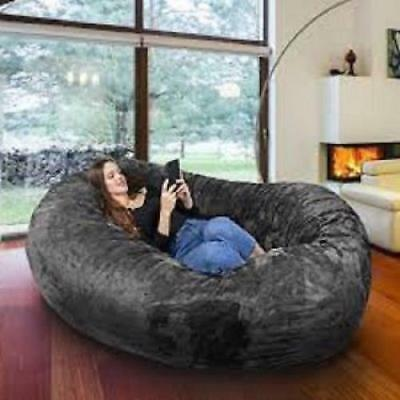 Groovy Large Bean Bag Chair 8 Ft Sofa Giant Adult Dorm Furniture Xl Pdpeps Interior Chair Design Pdpepsorg