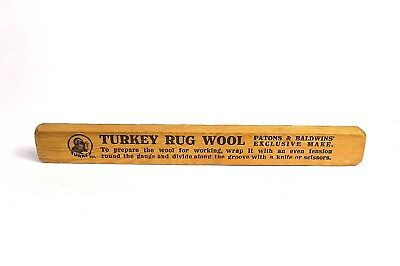 Turkey Rug Wool Vintage Measuring Gauge Patons Baldwins