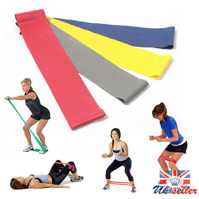 Elastic Resistance Band Muscle Workout Bands Fitness Body Equipment For Yoga UK