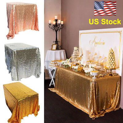 Sparkly Sequin Tablecloth Table Cover Dining Banquet Wedding Events Party Decor