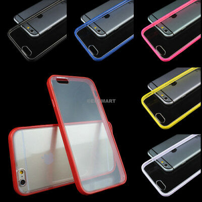 For iPhone 6S/Plus/6 Ultra Thin Hard Clear Bumper Shockproof Cover Phone Case