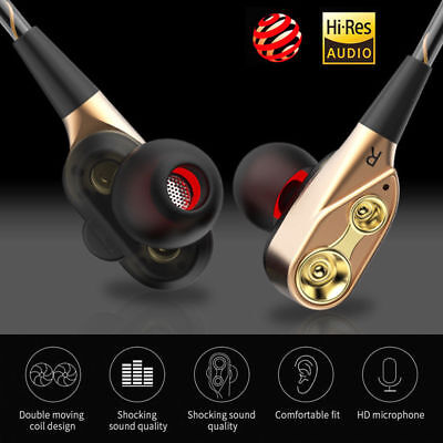 3.5mm Headphone Super Bass Music In ear Earphone Stereo Headset Earbuds With Mic