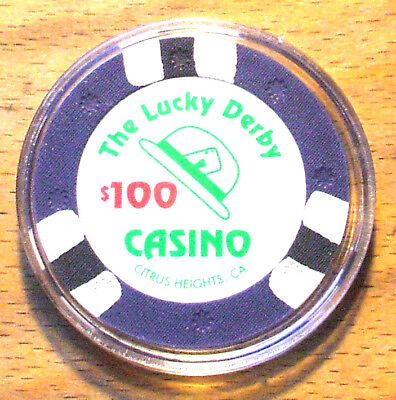 $100. LUCKY DERBY CASINO Chip - Citrus Heights, California