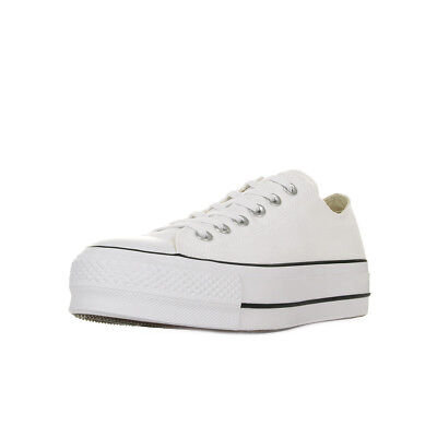 009cc77574a71 Chaussures Baskets Converse femme Chuck Taylor All Star Lift taille Blanc