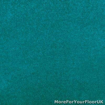 Teal Oxford Quality Twist Carpet Cheap Stain Resistant Felt Backing 4m & 5m Wide