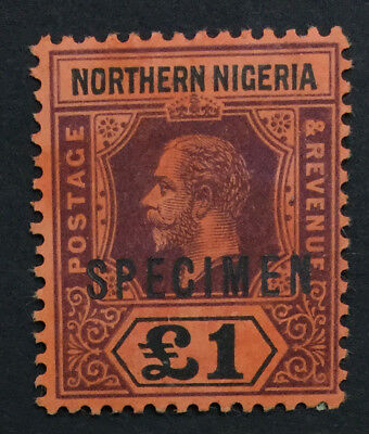 MOMEN: NORTHERN NIGERIA SG #52s SPECIMEN MINT OG H £160 LOT #519
