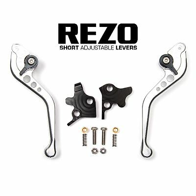 REZO Silver Adjustable Short Brake and Clutch Lever Set for Ducati 1198 R 09-11