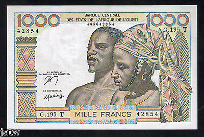 WEST AFRICA STATES P-803Tn. (1978-79) 1000 Francs for Togo.. Sign.12   UNC