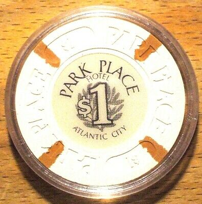 $1 BALLY'S PARK PLACE Casino Chip -Light Brown Inserts-Atlantic City, New Jersey