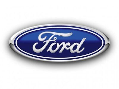 FORD BADGE 150MM x 60MM BLUE/CHROME OVAL EMBLEM FRONT REAR MONDEO TRANSIT FOCUS