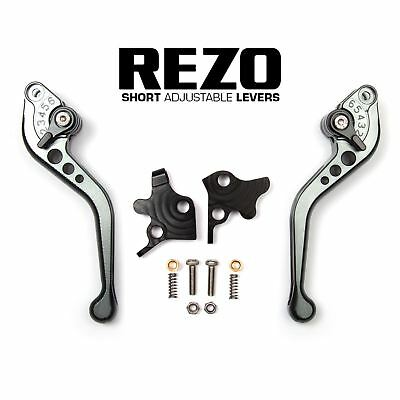 REZO Titanium Short Brake and Clutch Lever Set for Kawasaki ZR 750 Zephyr 91-93