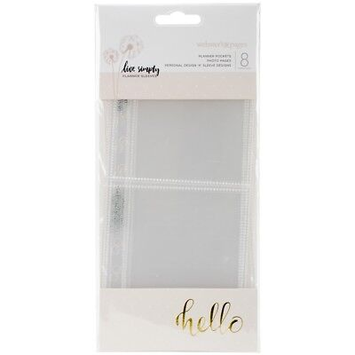 """Color Crush Personal Planner Photo Sleeve Pages 8/pkg-design K; (1) 3""""x2.5"""","""