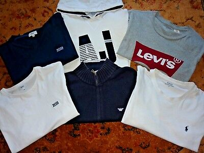 6 Item Boys Designer Clothes Bundle Boss Armani Polo Age 14-15 Years