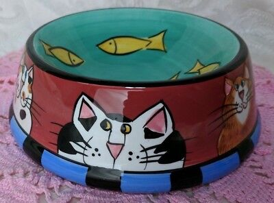 Catzilla 😺 Cat Food Bowl Feeding Dish by Candace Reiter 2000 cats