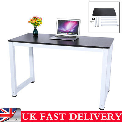 Black Iron+MDF Computer Desk Folding Laptop PC Table Home Office Study School