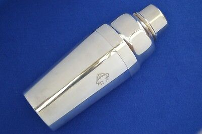 Christofle Cocktail Shaker Art Deco Style - France - Silver Plate - Barware -