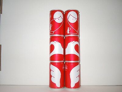 COCA COLA - COMPLETE SET - 6 ALUMINUM  160 ml. CANS from JAPAN EMPTY !!!