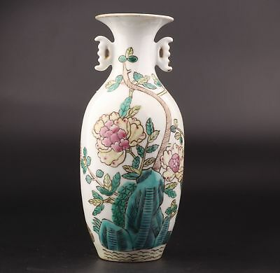 Precious Chinese Porcelain Vases Decorative Hand-Painted Flowers Chrysanthemums