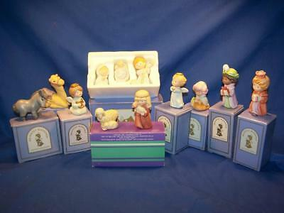 1986 Avon Heavenly Blessings Christmas Nativity Collection, 12 Pieces with Boxes