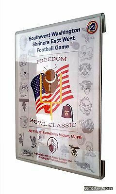 Wall Mount Standard Sized Magazine Display by GameDay Display Frame less Acrylic
