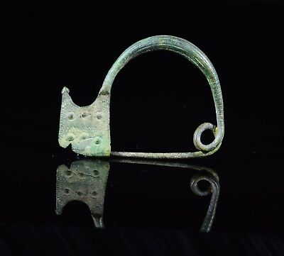 Ancient Celtic Bronze La Tene Type Brooch / Fibula - T122