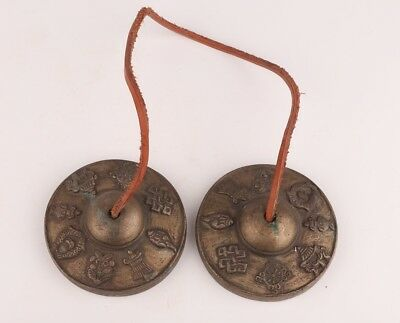 Bronze Tibetan Buddhist Chanting Instrument Tool Playing Old Collection