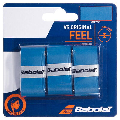 3 Babolat VS Grips/Overgrips - Blue - Free P&P