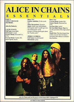 Alice In Chains Layne Staley Jerry Cantrell 2-page 1996 bio article w/ 2 photos