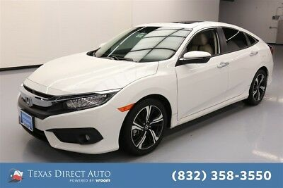2017 Honda Civic Touring Texas Direct Auto 2017 Touring Used Turbo 1.5L I4 16V Automatic FWD Sedan