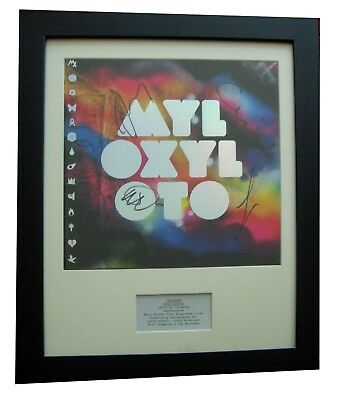 Coldplay+Signed+Framed+Mylo Xyloto+Ghost+Rush=100% Authentic+Express Global Ship
