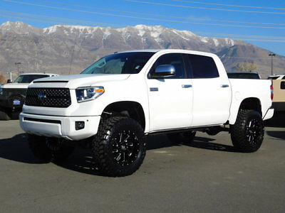 2018 Toyota Tundra PLATINUM LIFTED TUNDRA CREW MAX PLATINUM 4X4 CUSTOM WHEELS TIRES LEATHER NAVIGATION ROOF