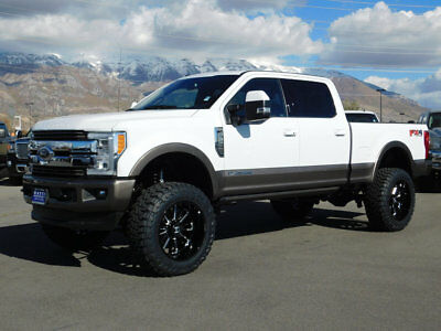 2018 Ford SUPER DUTY F-350 KING RANCH FX4 LIFTED FORD CREW CAB KING RANCH 4X4 POWERSTROKE DIESEL CUSTOM WHEELS TIRES ROOF
