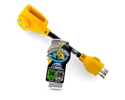 """Camco 55382 12"""" RV 30Amp Locking 4-Prong Male / Standard Female Power Grip..."""