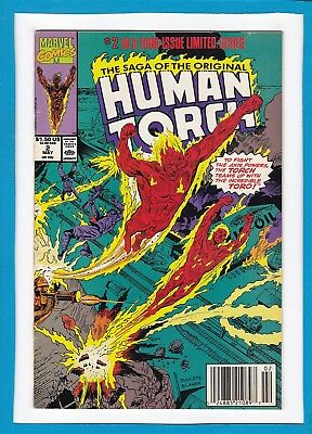 Human Torch #2_May 1990_Very Fine_Saga Of The Original Human Torch_Marvel!