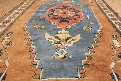 A DELIGHTFUL OLD HANDMADE TURKISH KARS ORIENTAL CARPET (361 x 221 cm)